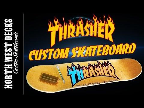 Making A THRASHER Custom Skateboard Graphic!
