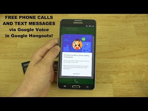 Google Voice Integration with Google Hangouts! (Make Free Phone Calls!)