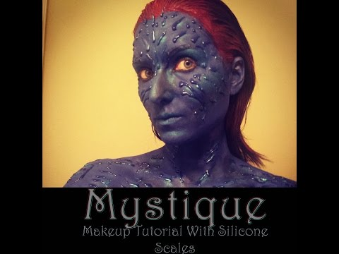 Mystique (X-MEN) Makeup Tutorial and Body Paint with Silicone Scales