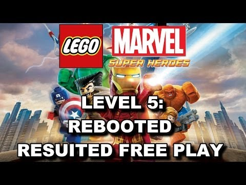 LEGO Marvel Super Heroes: Level 5 Rebooted Resuited FREE PLAY (All Minikits & Stan Lee in Peril)