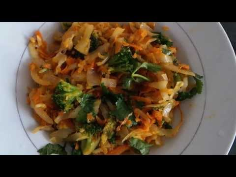 Cabbage Carrot and Broccoli fry Healthy Recipe