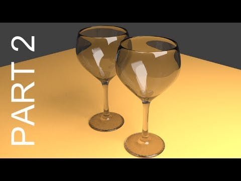 Blender Tutorial For Beginners: Wine Glasses - 2 of 2