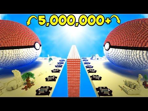 5,000,000 EXPLODING TNT vs TNT POKEBALL! (Minecraft)