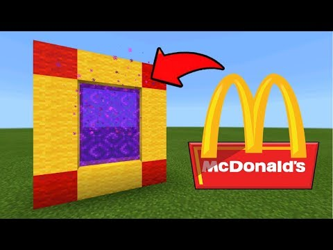 Minecraft Pe How To Make A Portal To The McDonalds Dimension - Mcpe Portal To The McDonalds!!!