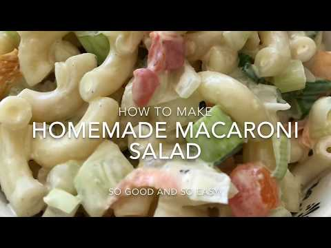 Homemade Macaroni Salad Recipe - How to Make Delectable Macaroni Salad from Scratch