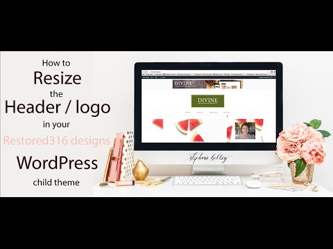How to resize the header logo in your Restored316 WordPress theme
