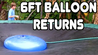 Giant 6ft Water Balloon On Trampoline! | JOOGSQUAD PPJT