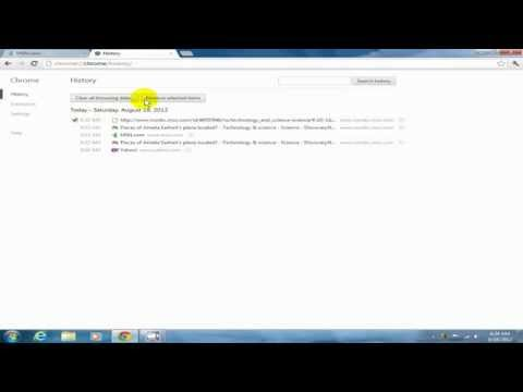 How to delete internet history google chrome Obliterate history - New Version