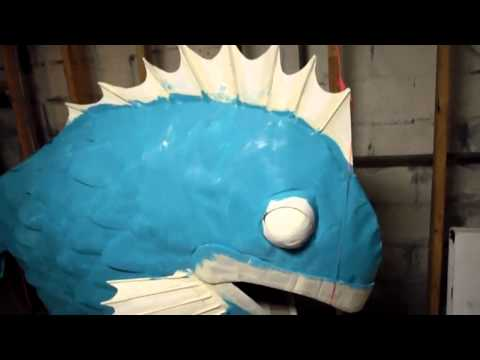 Part 3- THE FISH- Homemade Cardboard Halloween Costume