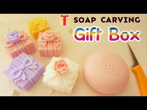 SOAP CARVING | GIFT BOX with a Rose | Caja para Regalo | How to Carve| Intermediate | Satisfying |