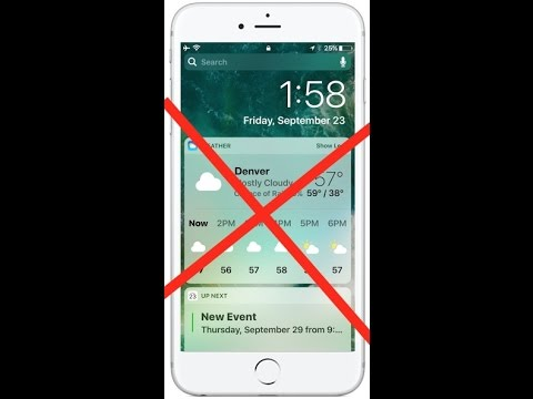 How to Disable Widgets at Lock Screen in IOS 10