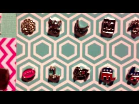 Origami Owl Discontinued Items into a Memory Board