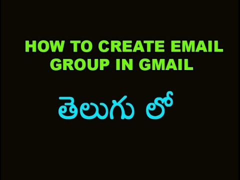 How to create Email group in gmail Tutorial in Telugu