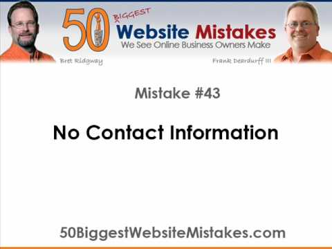 Website Mistake #43 - No Contact Information