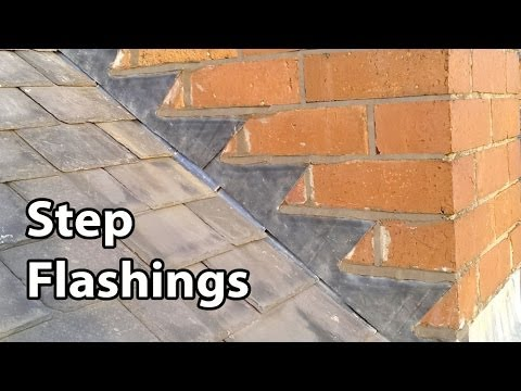 How to fit simple Step Flashing - Step flashings for Slates, and overlapping Tiles