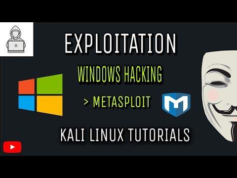 Windows Hacking (Exploitation using Metasploit Framework) in Kali Linux