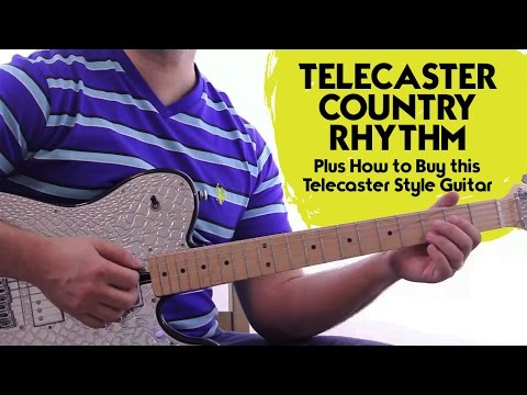 Telecaster Style Guitar - Easy Country Guitar Licks with a Telecaster