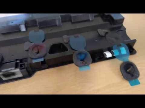 SHARP MX-5140: How to seal the waste toner box after replacement.