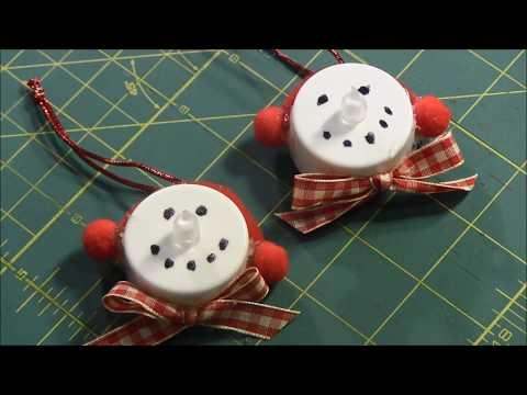 Snowman Tea Light Ornament (Dollar Store Craft)