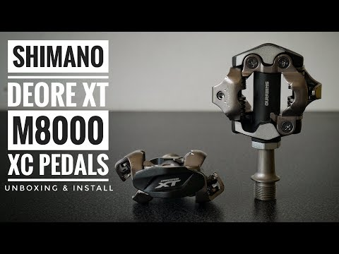 Shimano XT M8000 XC Pedals Unboxing & Install