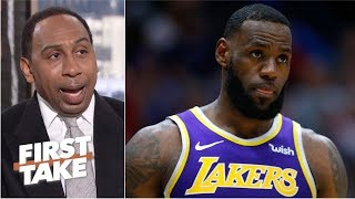 Trading LeBron would be 'utterly ridiculous' for Lakers - Stephen A. | First Take