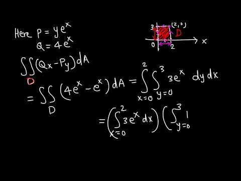 Calc III: Line integral using Green's theorem example 1/5