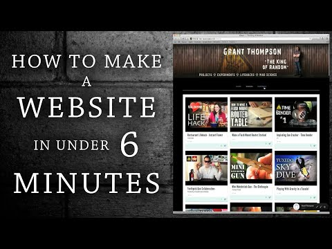 How To Build a Website in Under 6 Minutes