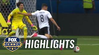 leon goretzka scores two quick goals vs mexico 2017 fifa confederations cup highlights