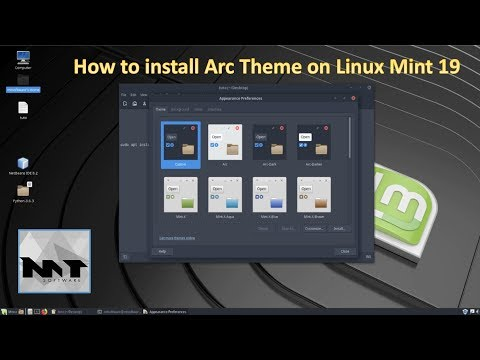 How To Install Arc Theme on Linux Mint 19