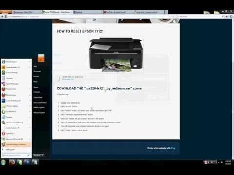 How to Reset Epson TX121 Printer