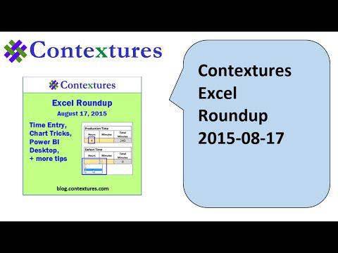 Excel Roundup 20150817