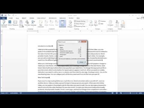 How to Do Word Count on Your Document : MS Word: Beyond the Basics