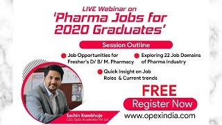 India's Largest LIVE Pharma Webinar | Pharma Jobs for 2020 Graduates