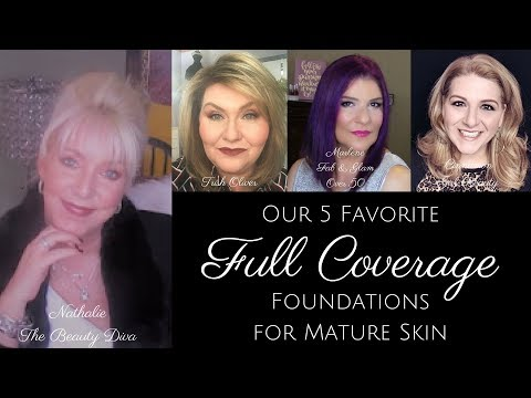 OVER 50 - TOP 5 FULL COVERAGE FOUNDATIONS - Dry, Mature  Skin - Over 50++