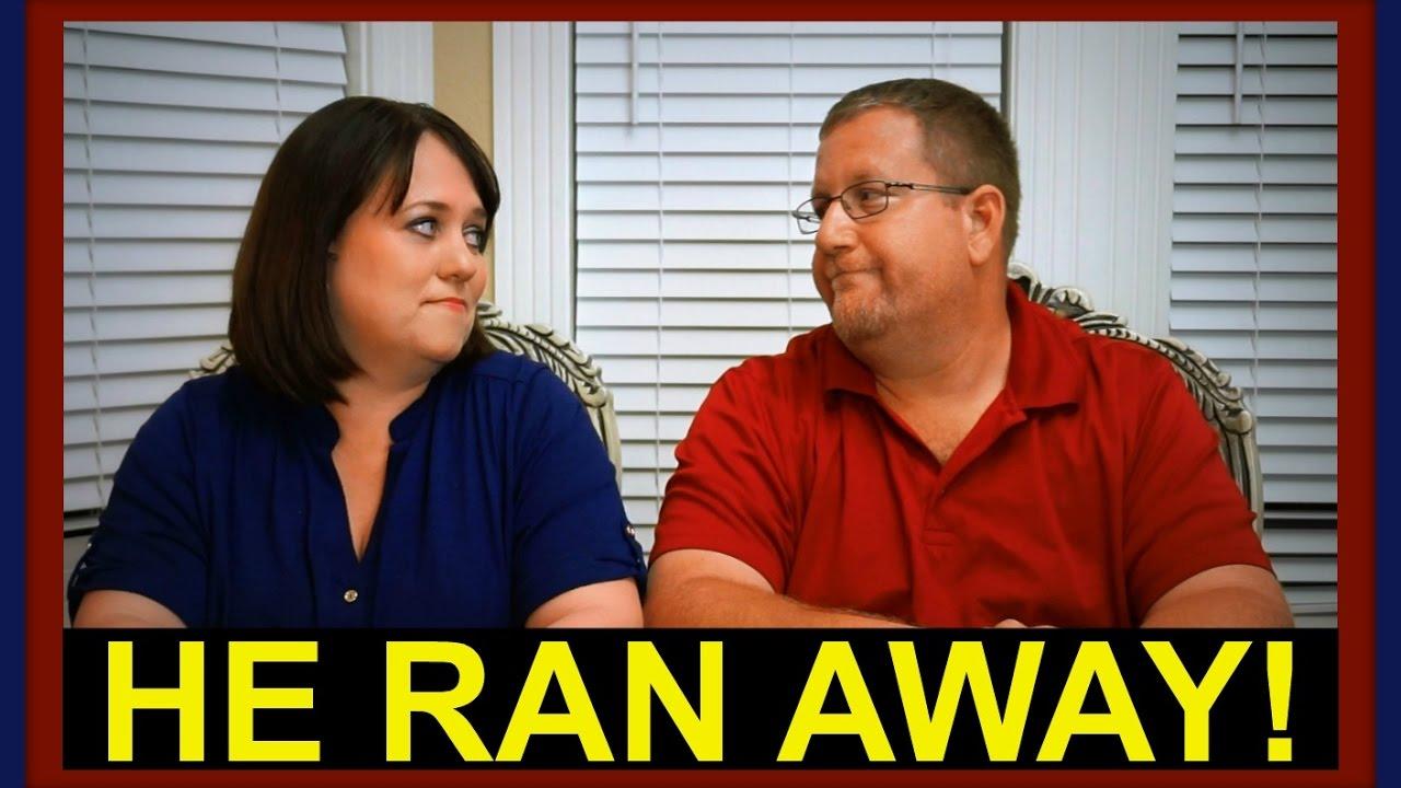 HE RAN AWAY!