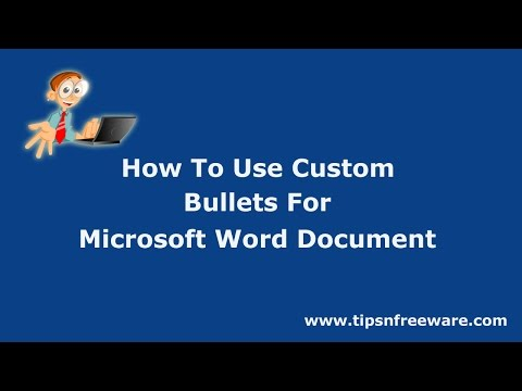 How To Use Custom Bullets For Microsoft Word Documents