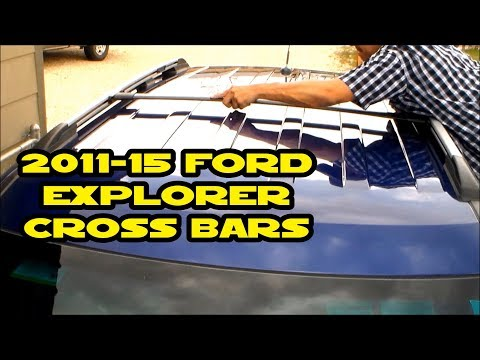 2011-15 Ford Explorer AUXMART Roof Rack Cross Bar installation