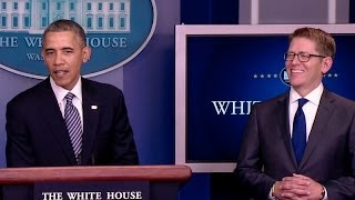 President Obama Announces Josh Earnest Will Replace Jay Carney