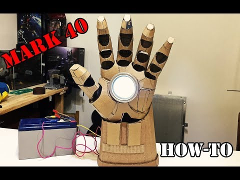 How to make  Iron Man's Hulkbuster hand from cardboard\LEDs\Night-light