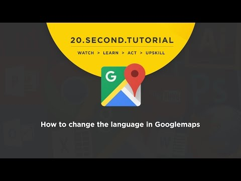 OLDIE - How to change the language: Googlemaps Tutorial #14