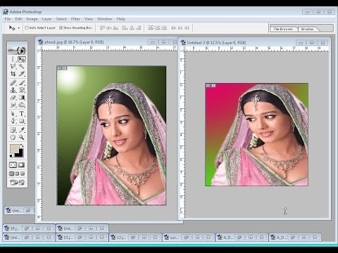 change background color  in photoshop  hindi video tutorial