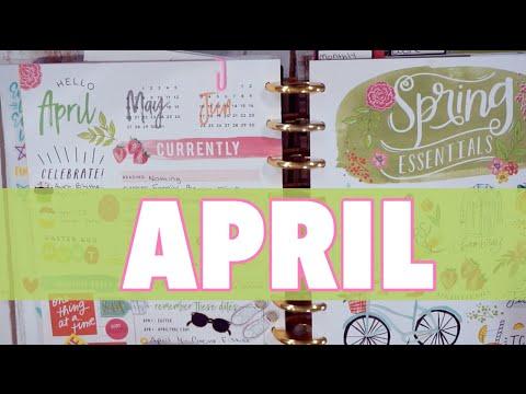 APRIL 2018 HAPPY PLANNER FLIP THROUGH | HAPPY PLANNER WEEKLY SPREADS | PEEK IN MY PLANNER