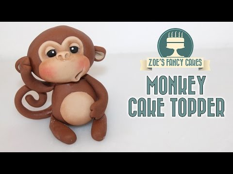 MONKEY CAKE TOPPER using gum paste or polymer clay