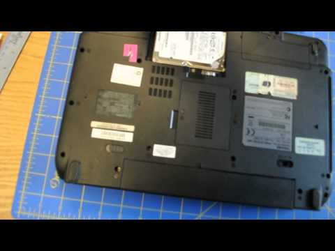 How to remove hard drive from Toshiba Satellite M115 Laptop