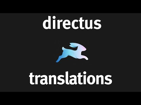 Translations with Directus