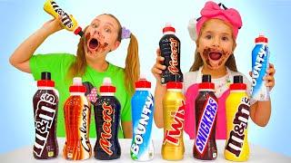 Ruby and Bonnie Taste Chocolate Milk Shake