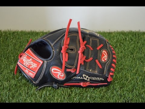 Rawlings Heart of the Hide PRO1175DCC Baseball Glove Relace - Before and After Glove Repair