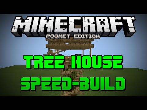 MCPE Speed-Build - Cool Tree House - Minecraft Pocket Edition | 0.11.1