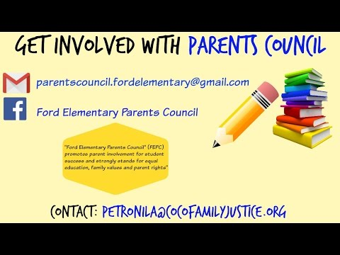 PARENT SCHOOL PARTICIPATION PROJECT - Parents Council