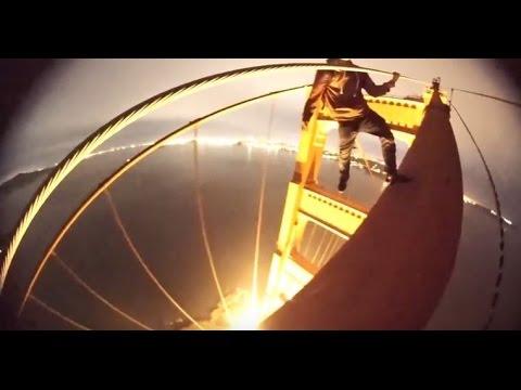 CLIMBING THE GOLDEN GATE BRIDGE:  Teens release video of night climb on the Golden Gate Bridge tower